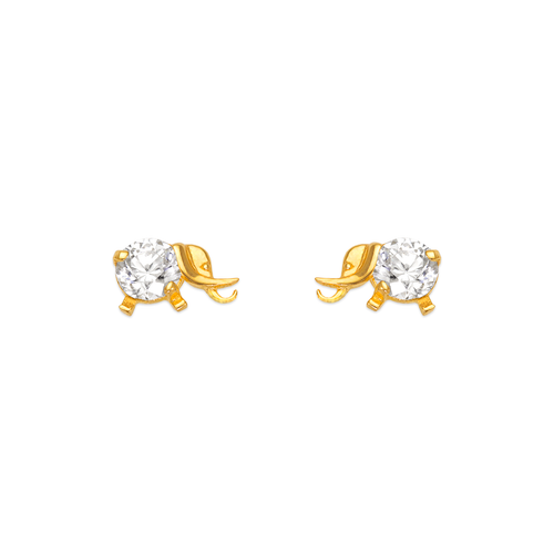 443-412 Elephant CZ Stud Earrings