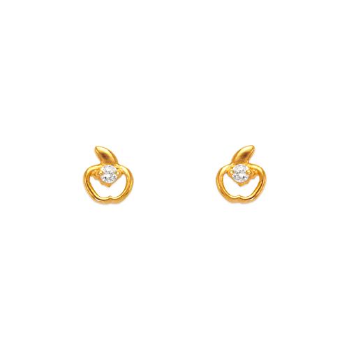 443-422 Apple CZ Stud Earrings