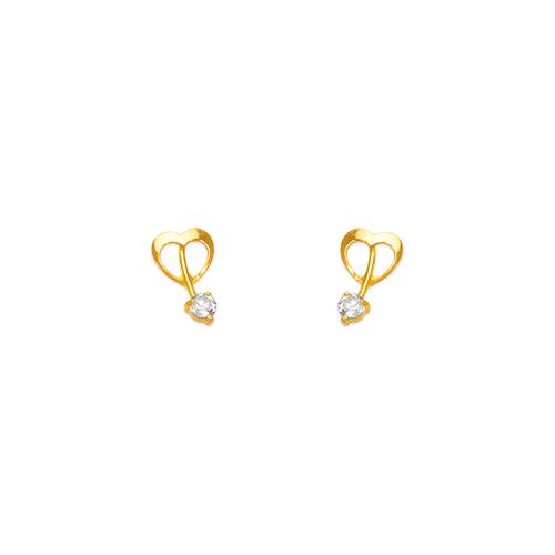 443-426 Heart CZ Stud Earrings