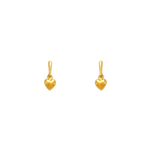 443-432 Dangling Heart Stud Earrings