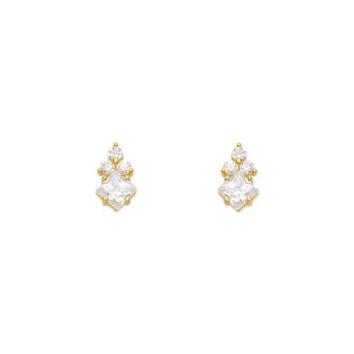 443-444 Flower CZ Stud Earrings
