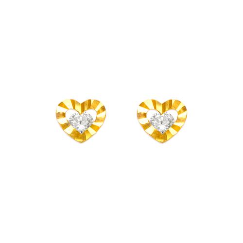 443-446 Heart CZ Stud Earrings