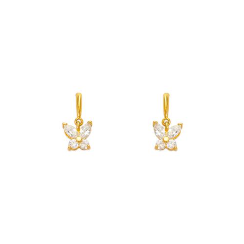443-452 Butterfly CZ Stud Earrings
