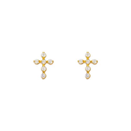443-454 Cross CZ Stud Earrings