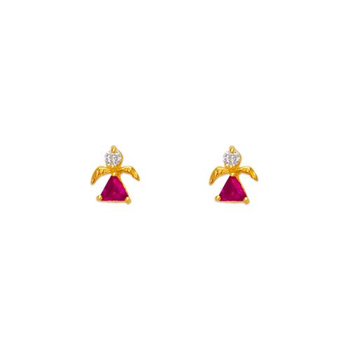 443-455 Angel CZ Stud Earrings