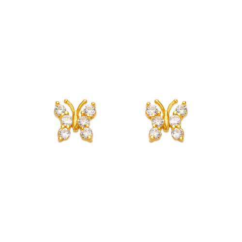 443-456 Butterfly CZ Stud Earrings