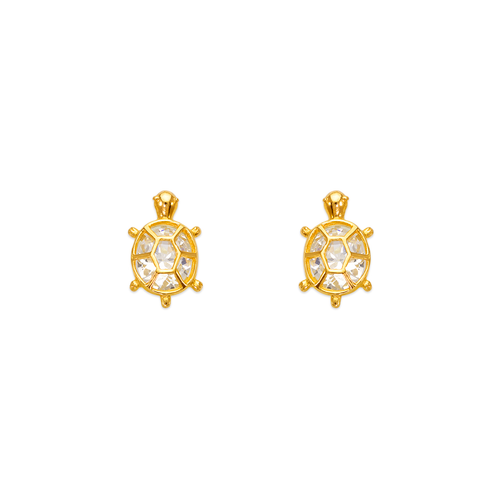 443-458WH Turtle CZ Stud Earrings