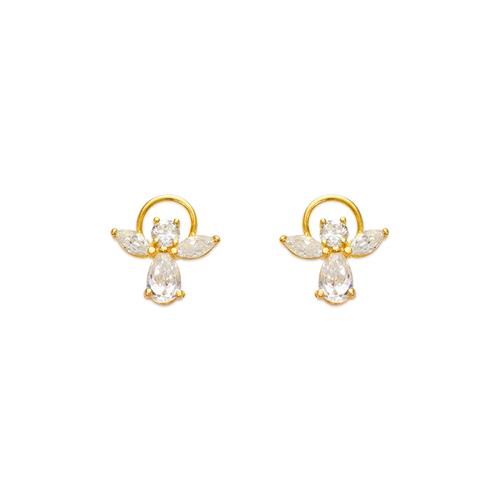443-459 Angel CZ Stud Earrings