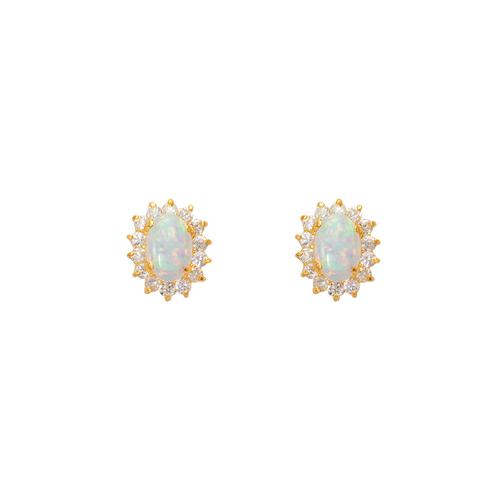 443-463 Flower Opal CZ Stud Earrings