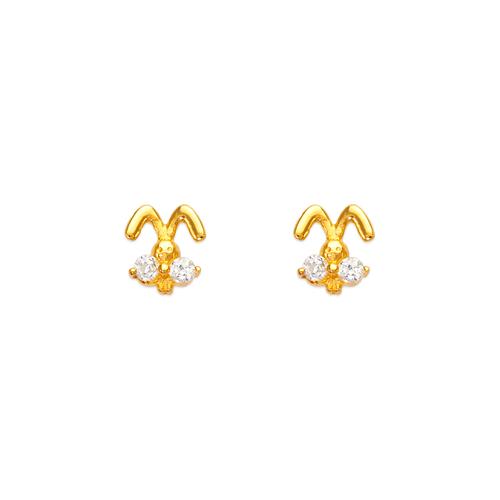 443-464 Rabbit CZ Stud Earrings