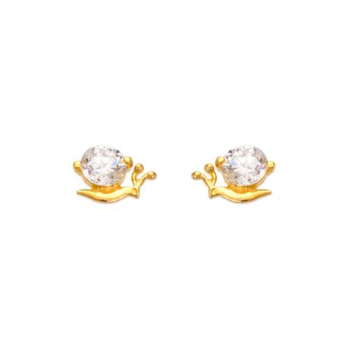 443-465 Snail CZ Stud Earrings