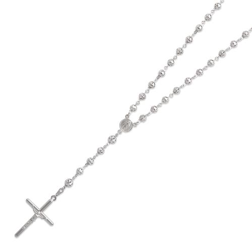 357-003W Rosary White Chain