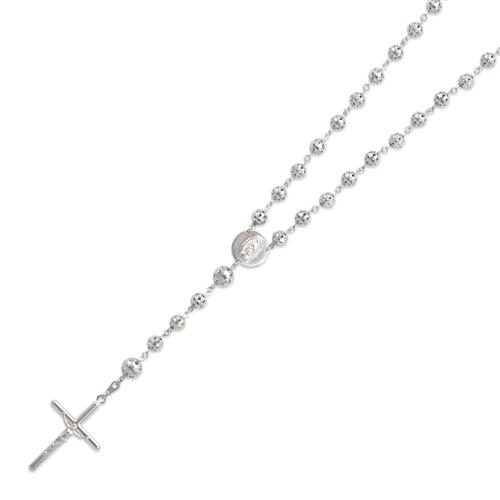 357-004W Rosary White Chain