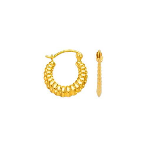 547-101 Hollow Shrimp Hoop Earrings