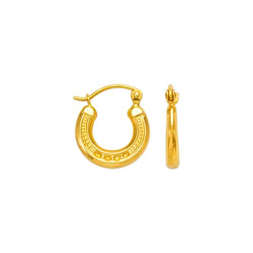 547-102 Hollow Shrimp Hoop Earrings