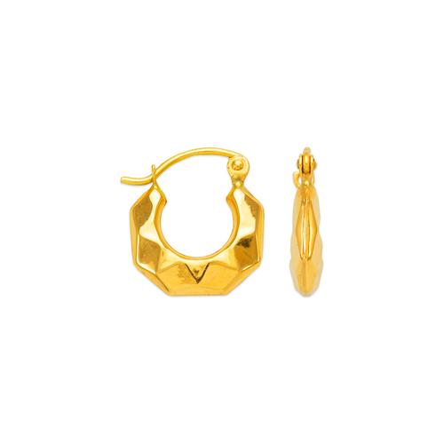 547-103 Hollow Shrimp Hoop Earrings