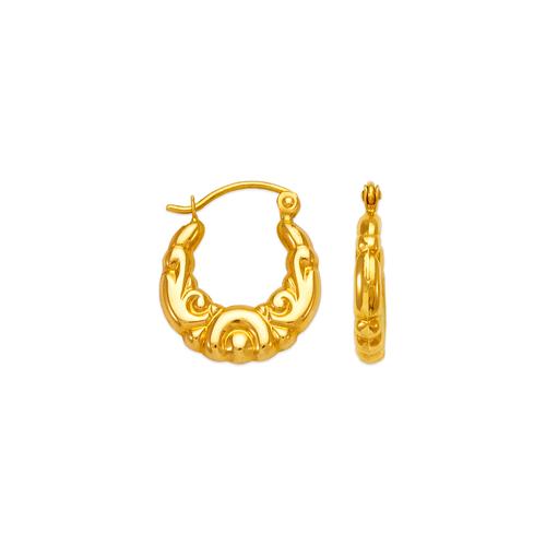 547-104 Hollow Shrimp Hoop Earrings