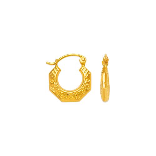 547-105 Hollow Shrimp Hoop Earrings