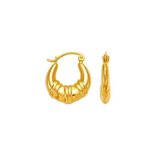 547-106 Hollow Shrimp Hoop Earrings