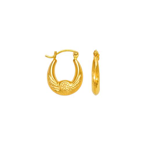 547-107 Hollow Shrimp Hoop Earrings