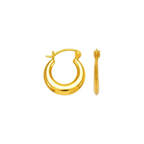 547-108 Hollow Shrimp Hoop Earrings