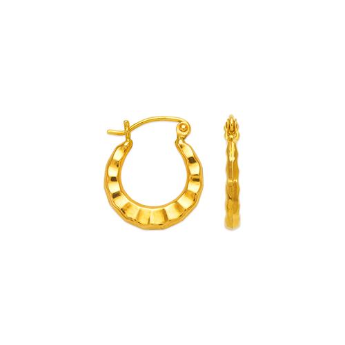 547-110 Hollow Shrimp Hoop Earrings