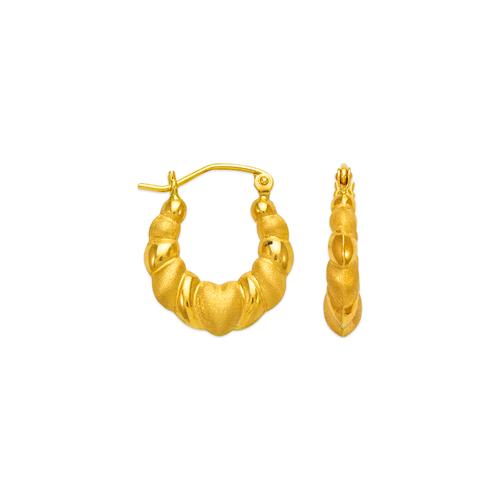 547-111 Hollow Shrimp Hoop Earrings