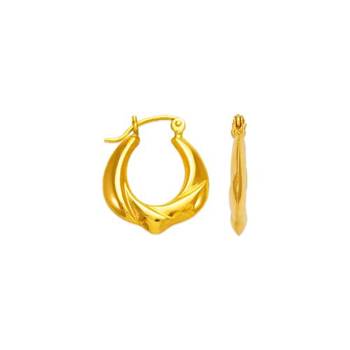 547-112 Hollow Shrimp Hoop Earrings