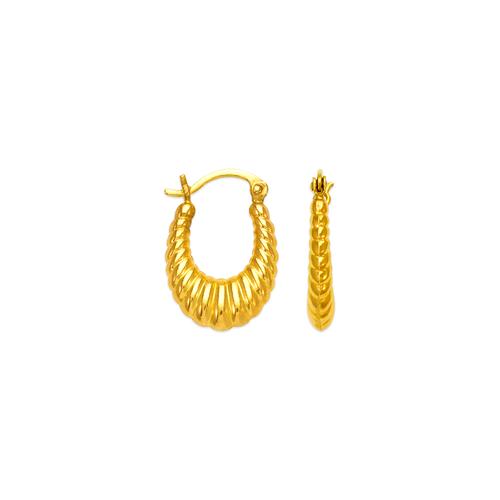 547-113 Hollow Shrimp Hoop Earrings