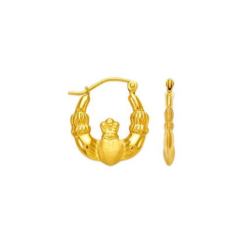 547-114 Hollow Shrimp Hoop Earrings
