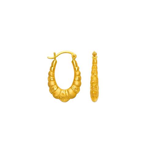 547-115 Hollow Shrimp Hoop Earrings