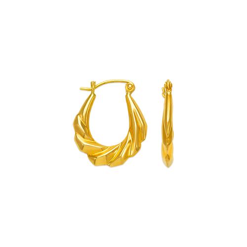 547-117 Hollow Shrimp Hoop Earrings