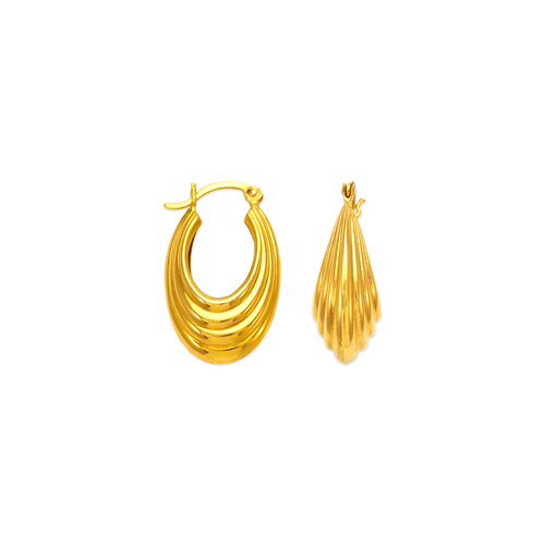 547-119 Hollow Shrimp Hoop Earrings