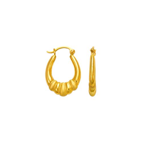 547-120 Hollow Shrimp Hoop Earrings