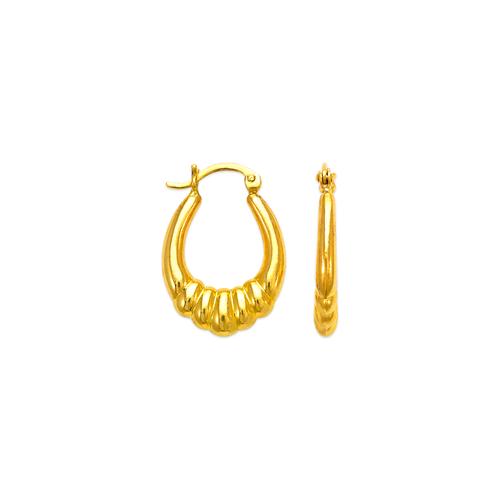 547-121 Hollow Shrimp Hoop Earrings