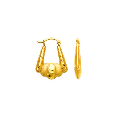 547-123 Hollow Shrimp Hoop Earrings