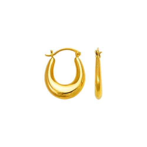 547-124 Hollow Shrimp Hoop Earrings