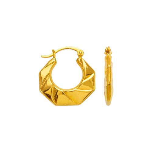 547-125 Hollow Shrimp Hoop Earrings