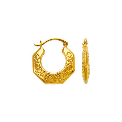 547-126 Hollow Shrimp Hoop Earrings