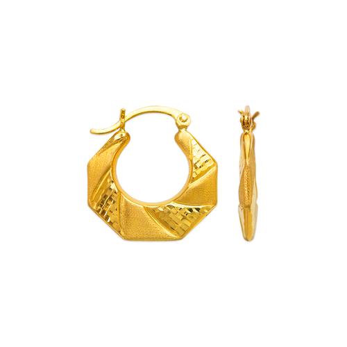 547-127 Hollow Shrimp Hoop Earrings