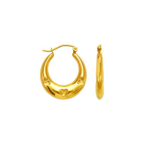 547-129 Hollow Shrimp Hoop Earrings