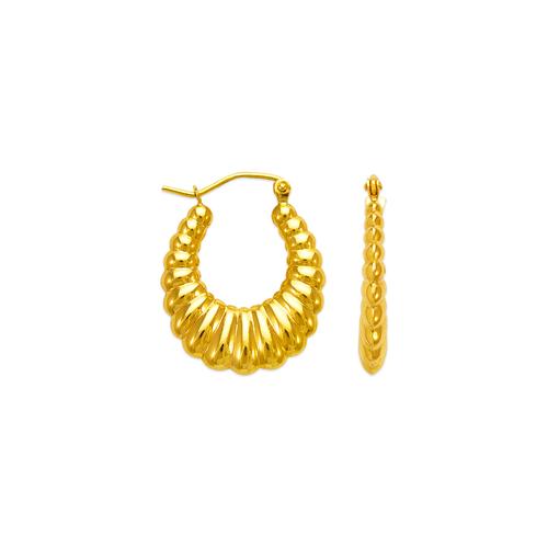 547-130 Hollow Shrimp Hoop Earrings