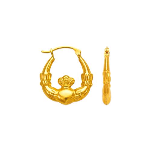 547-131 Hollow Shrimp Hoop Earrings