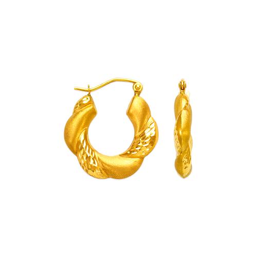 547-132 Hollow Shrimp Hoop Earrings