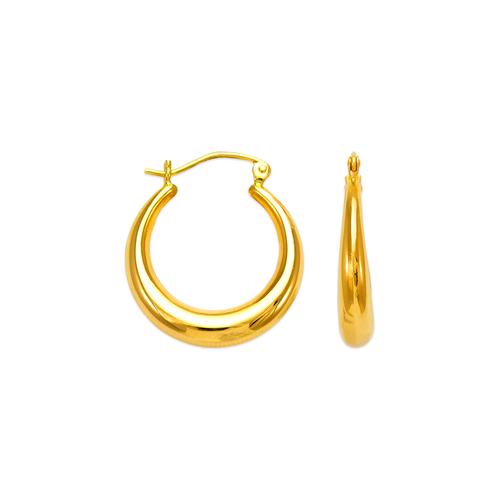 547-133 Hollow Shrimp Hoop Earrings