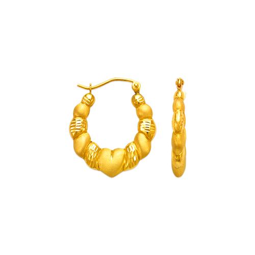 547-134 Hollow Shrimp Hoop Earrings