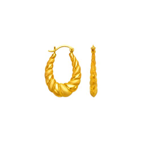 547-135 Hollow Shrimp Hoop Earrings