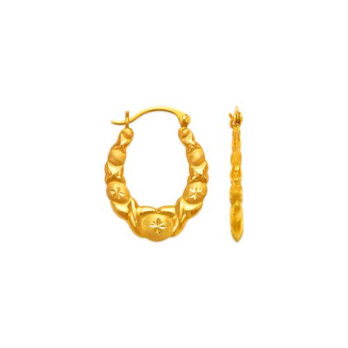 547-136 Hollow Shrimp Hoop Earrings