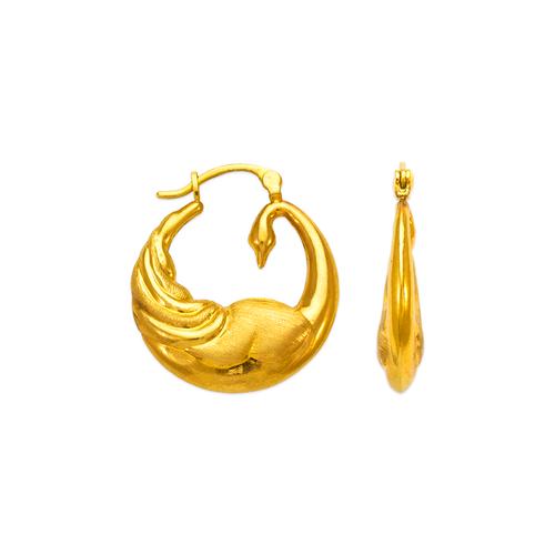 547-137 Hollow Shrimp Hoop Earrings