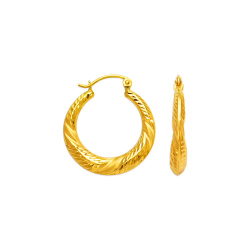 547-138 Hollow Shrimp Hoop Earrings